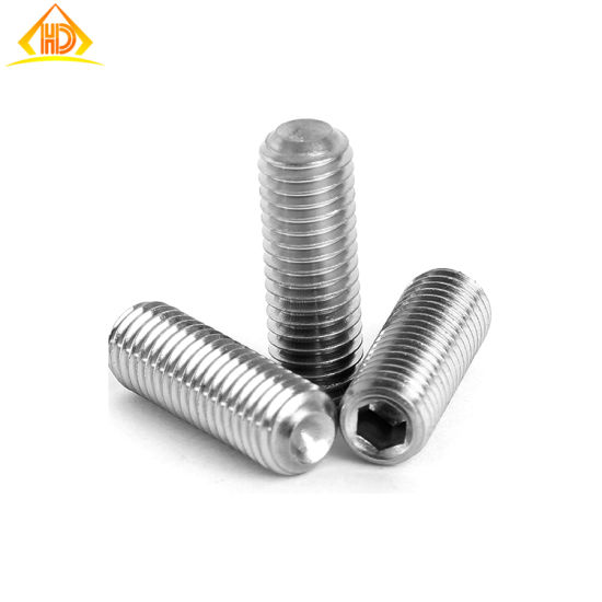 SS304 Grub Screws Set Screws Cone Point