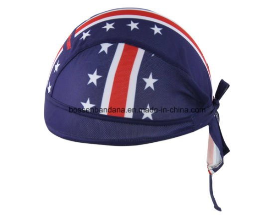 OEM Produce Customized Logo Printed Promotional Cotton Dew Rag Sports Bandana Cap pictures & photos