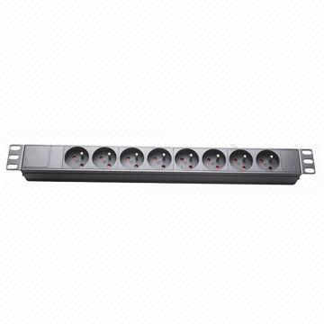 Euro Plug Socket 8-Way PDU for Network Cabinet 19-Inch pictures & photos