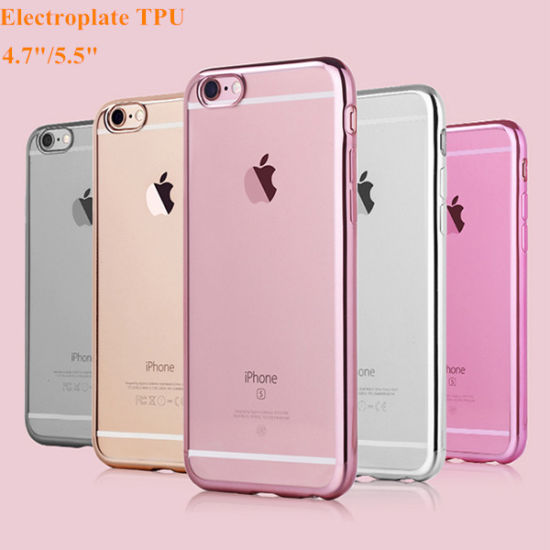 Transparent Electroplate TPU Phone Case for iPhone 6 pictures & photos