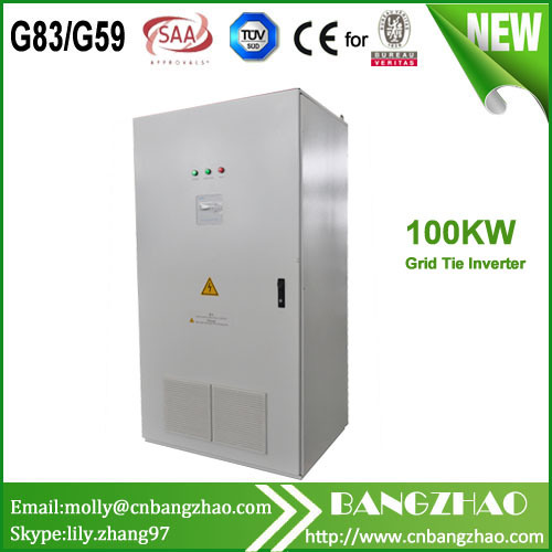 50kw 100kw 3-Phase Output Isolation Transformer Grid Tie Solar Inverter for Solar Power System