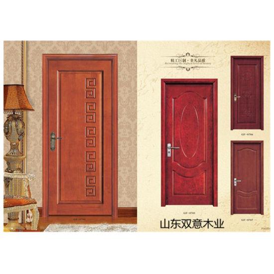 China Solid Wood Door Design Main Entrance Door Veneer Room Door