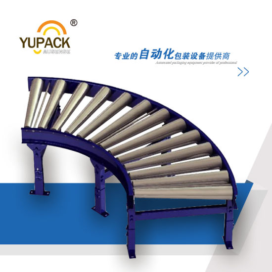 Automatic Customeried Motoried Curved Roller Conveyor pictures & photos
