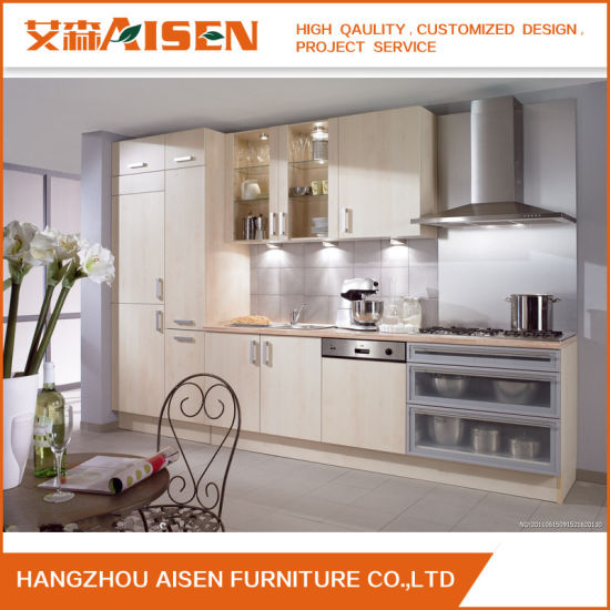 2017 New Design Kitchen Cabinet White Melamine