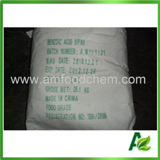 Food and Tech. Grade Preservative Benzoic Acid with Bp USP FCC