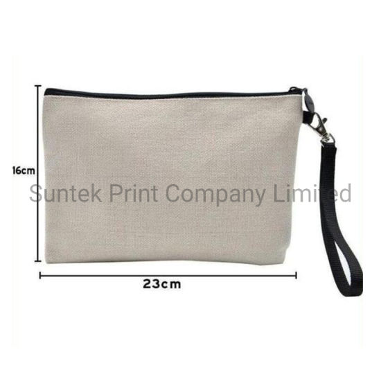 Customizable Sublimation Coarse Cloth Cosmetic Bag pictures & photos