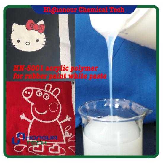 Water Based Styrene Acrylic Polymer Emulsion for Screen Pigment White Paste