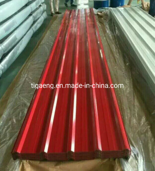 Building Material Prime Color Coated Steel Corrugated Galvalume Metal Roof Sheet