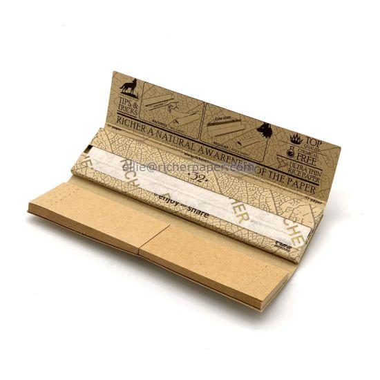 Custom Branding Natural Package Hemp Smoking Rolling Paper