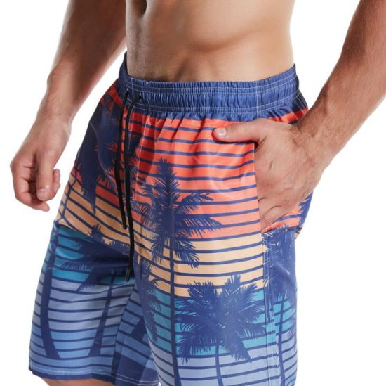 Color Love Mens Beach Board Shorts Quick Dry Summer Casual Swimming Soft Fabric with Pocket