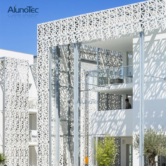 Fashion Exterior Building Facade Aluminium Curtain Wall Perforated Aluminum out Wall Panel