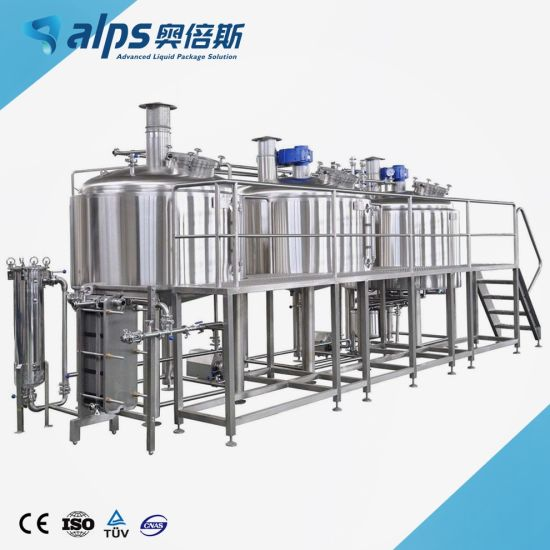 Turnkey Project Industrial Beer Production Plant Beer Brewing Equipment / Brewery Machine