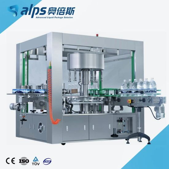 High Quality Rotary Type Mineral Water Beverage Bottle Hot Glue OPP Labeling Machine