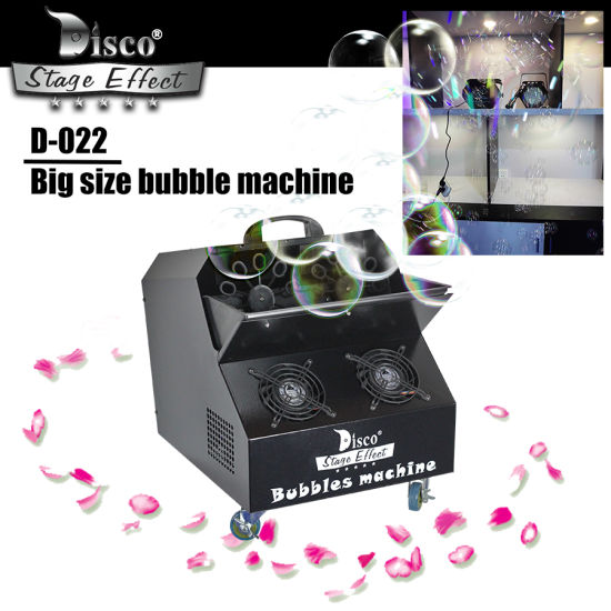 Stage Effect Double Wheel Large Bubble Machine for Christmas /Weeding