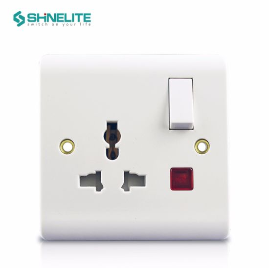 Factory Supply BS Bakelite Electrical Wall USB Light Switch Socket