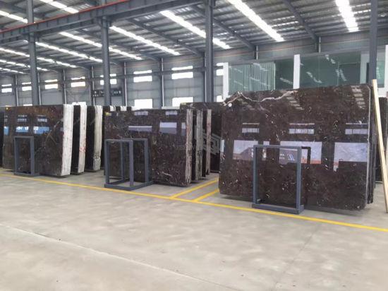China Natural Dark Emperador Brown Marble Slabs