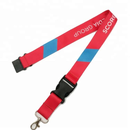 Promotional Gift Printing Polyester Lanyard Strap with Metal Hook pictures & photos