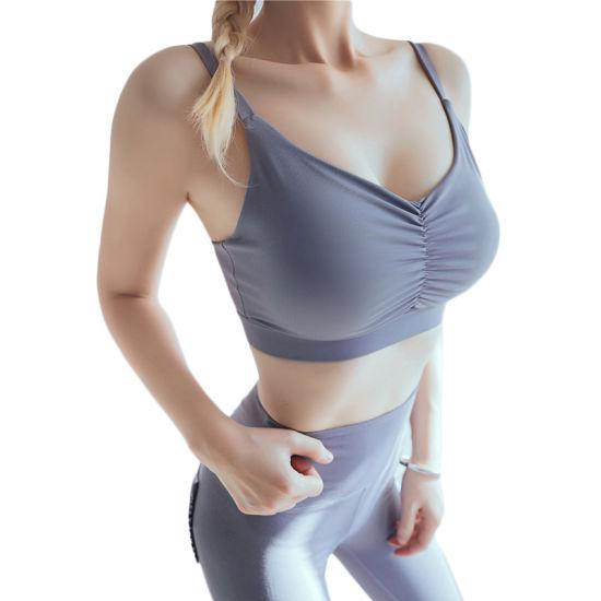 Thin Shoulder Strap Morandi Color Yoga Bra Lingerie