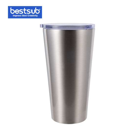 Bestsub Sublimation 16oz/480ml Stainless Steel Tumbler Cup (Silver) Bw41-480s