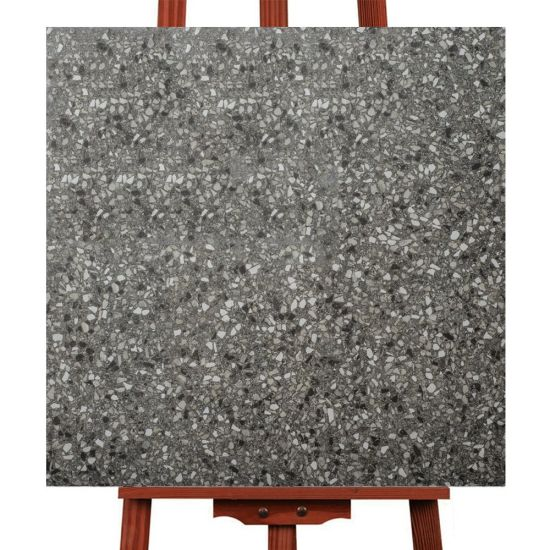 Matt Surface Anti Skidding 600mm Dark Color Terrazzo Tile Floors