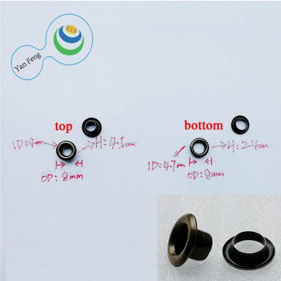 8mm Fashion Brass Double Side Round Eyelet Hardware Accessories (YF8mm-19)