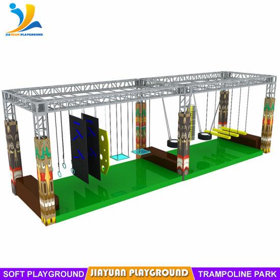 Challenge Games Indoor Ninja Obstacle Warrior Course in Jiayuan Playground