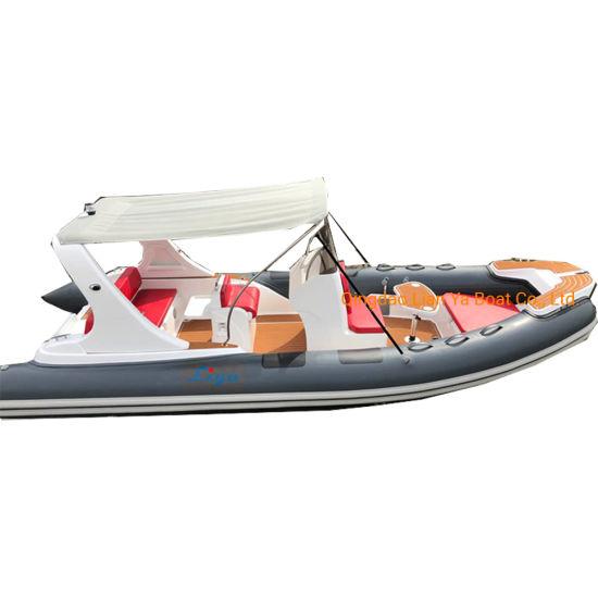 Iiya 20feet China Boat Accessories with Engine Rigid Inflatable Boat