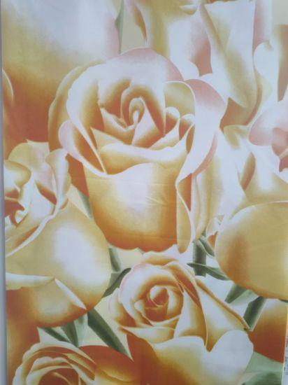 Gold Rose Pattern Bedding Shet for 100% Polyester Fabric