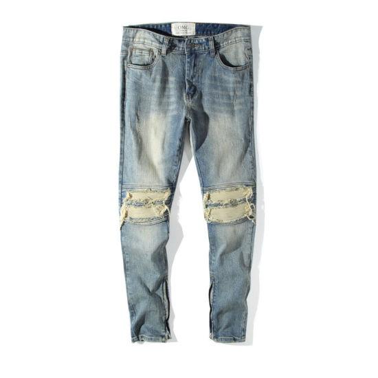Wholesale 2020 Mens New Design Cargo Jeans Pants Custom High Street Fashion Denim Jeans