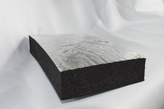 Silver Aluminum Foil Sound Insulation Foam for Ventilation Pipe
