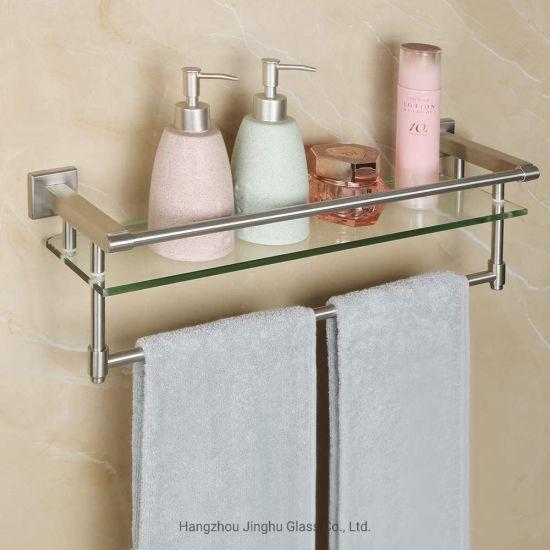 6mm 8mm Top-Quality Tempered Glass Shelf Book Shelf for Bathroom/Living Room