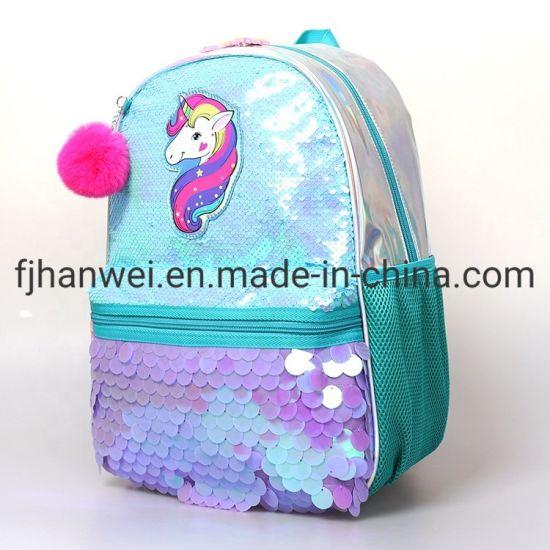 16 Inch Fashion Popular Sequins Girls School Bag