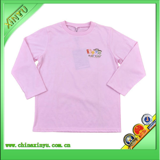Factory Custom High Quality Lovely Children Tee Shirt with Printing pictures & photos