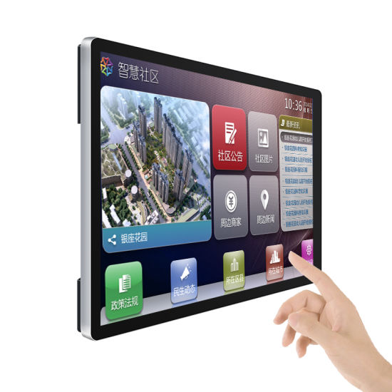 21 32 43 49 55 Inch Wall Mounted Digital Touch Screen All in One PC LCD Display Android Touchscreen Monitor