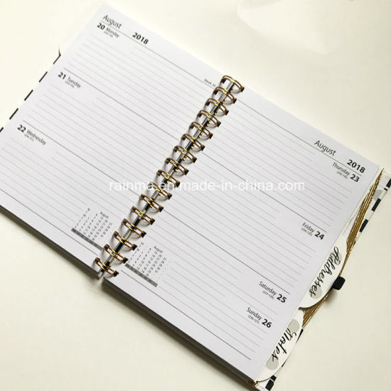 Spiral Hardcover Notebook with Custom Diary and Address Design pictures & photos