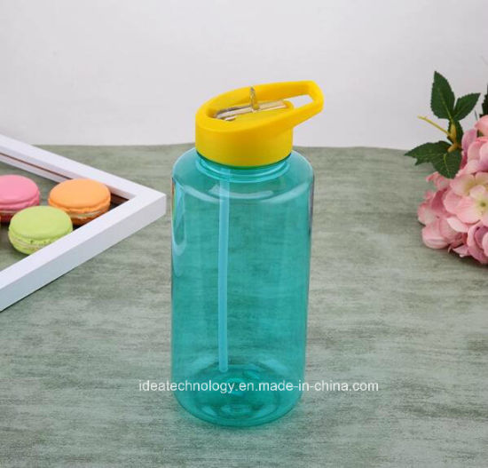 1000ml Plastic Water Bottle Gym Fitness Outdoor Sports Cup for Outdoor with Straw pictures & photos