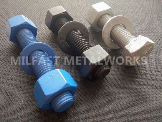 China ASTM A193 Threaded Rods with ASTM A194 2h Teflon