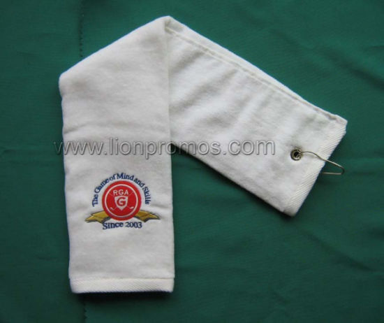 Fine Quality Custom Logo Velors Golf Towel pictures & photos