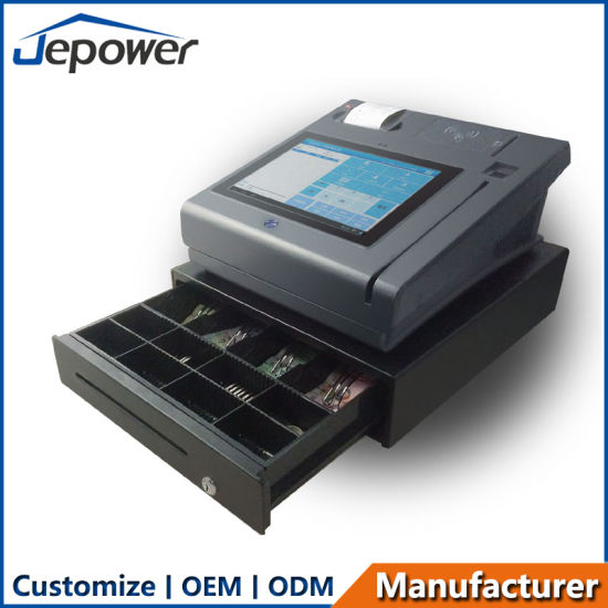 Desktop POS Systems Fitted with Thermal Printer and Cash Drawer and Customer Display Unit pictures & photos