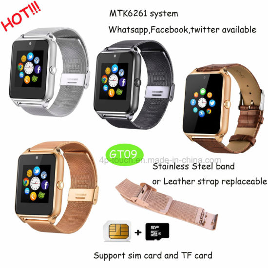Newest Smart Watch Phone with Multiple Functions GT09 pictures & photos