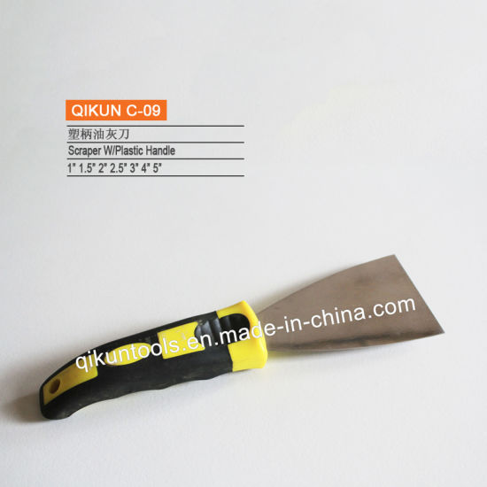 C-18 Construction Decoration Paint Hardware Hand Tools Plastic Handle Carbon Steel Mirror Polished Scraper pictures & photos