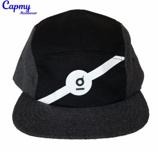 3281aadbad7 China Fashion 5 Panel Hat with White Logo Printing Snapback Cap ...