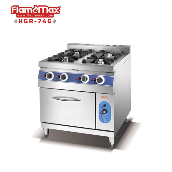 4 Burner Gas Range Cooker with Gas Oven Kitchen Equipment Catering Equipment Cooking Range Gas Stove Gas Burner Cooking Equipment Restaurant Equipment