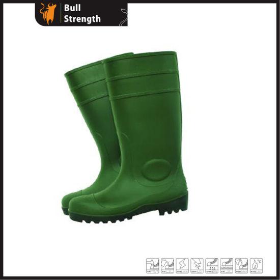 82f184884550 China PVC Rain Boots Green with Steel Toecap (Sn1217) - China PVC ...