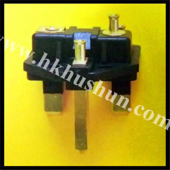 3-Pin Plug, Customized Types Are Accepted (HS-BS-0026) pictures & photos