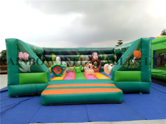 2016 New Design Popular Giant Inflatable Green Bouncer for Kids