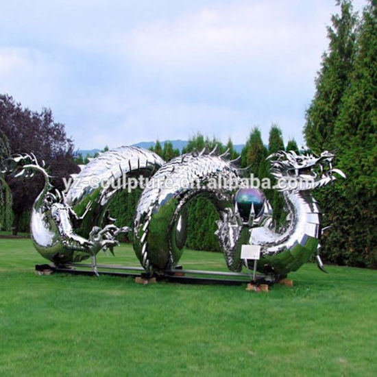 China Large Garden Art Metal Sculptures Stainless Steel Woman