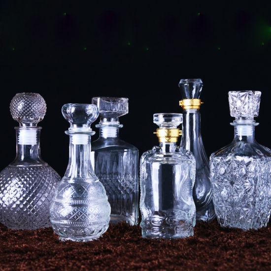 Crystal Design Lead Free Glass Bottle for White Wine or Liquor