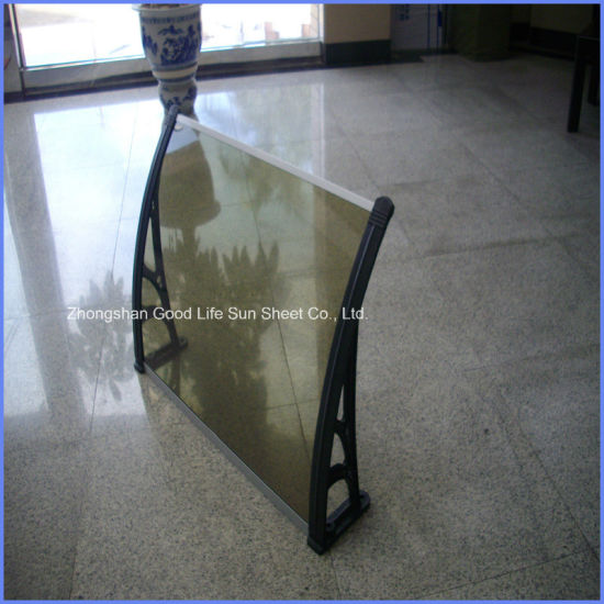 China Diy Clear Polycarbonate Patio Door Awnings With Middle Fixing