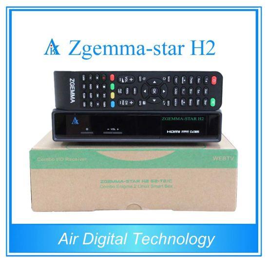 China New Product Satellite Receiver Zgemma Star H2 Combo